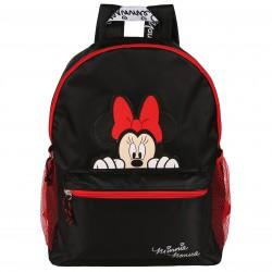 Czarno-czerwony plecak młodzieżowy Myszka Minnie