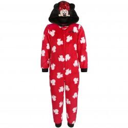 Ciepła, czerwona piżama jednoczęściowa z cekinami Myszka Minnie DISNEY