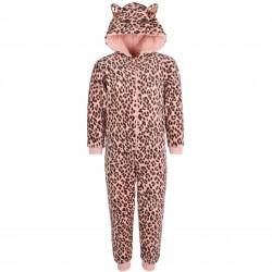 Jednoczęściowa ciepła piżama w zwierzęcy wzór
