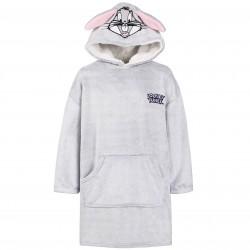 Looney Tunes Bugs Warm Oversize Grey Hood Sweatshirt