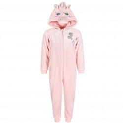 One Piece Warm Light Pink Unicorn Pyjamas