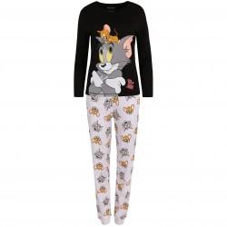 Damska, szaro-czarna piżama Tom I Jerry