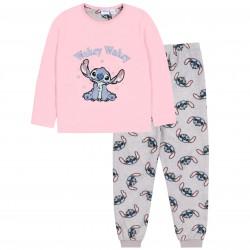 Ciepła, szaro-różowa piżama Stitch DISNEY