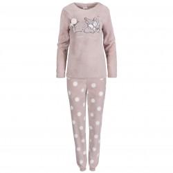 Disney Thumper Women Warm Long Sleeve Beige Pyjamas