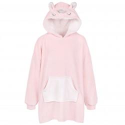 Oversize Warm Light Pink Unicorn Sweatshirt