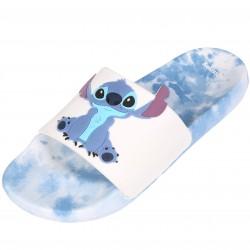 Błękitno-białe klapki gumowe Stitch Disney