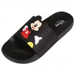 Czarne gumowe klapki Mickey Mouse