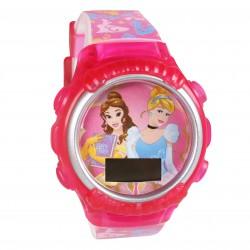 Różowy, dziecięcy zegarek cyfrowy Księżniczki Disney'a