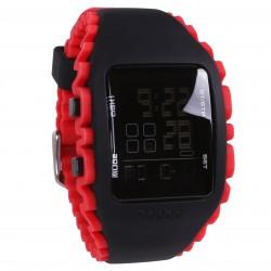 Czarno-czerwony, męski zegarek na silikonowym pasku Reebok
