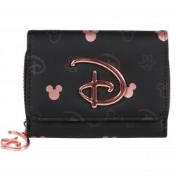 Disney Mickey Mouse Eco Leather Matt Small Black Wallet