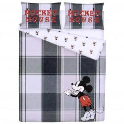 Disney Mickey Mouse Cotton Double Sided Grey Duvet Set 200 x 200 cm