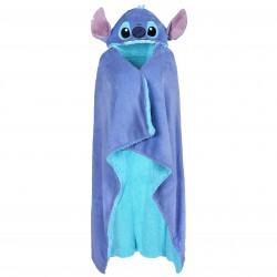 Disney Stitch Sherpa Fleece Warm Blue Throw Wrapper Bathrobe