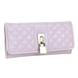 Różowy pikowany portfel, kłódka PRIMARK ATMOSPHERE