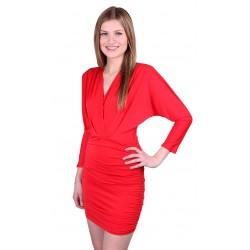 ASOS KARDASHIAN STYLE Czerwona, obcisła sukienka mini