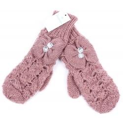 Różowe rękawiczki z koralikami PRIMARK ATMOSPHERE
