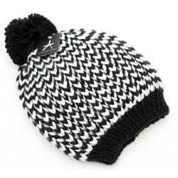Ciepła czarno-biała czapka PRIMARK ATMOSPHERE