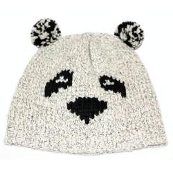 HIT!! Kremowa czapka - panda PRIMARK ATMOSPHERE